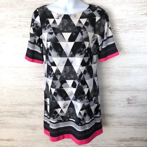ELIZA J Geometric Print Shift Dress 14
